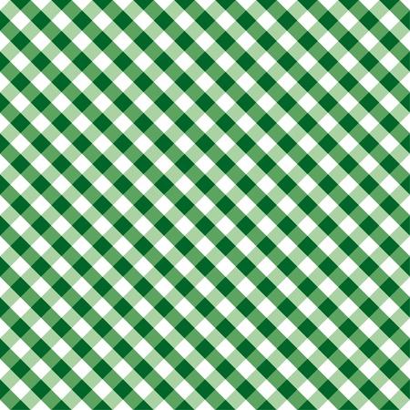 manteles: Impecable en Tejido Patr�n Gingham en verde y blanco incluye muestra de motivo a la perfecci�n que llenar� cualquier forma Vectores
