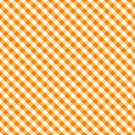 seamlessly: Seamless Croce Weave modello Gingham in arancione e bianco, include campione di pattern che senza soluzione di continuit� riempire qualsiasi forma