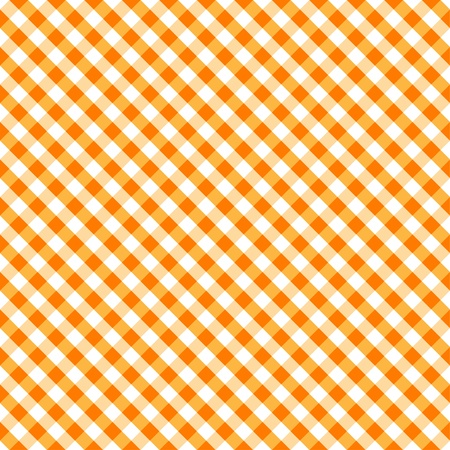 Seamless Cross Weave Gingham Pattern in orange and white,  includes pattern swatch that will seamlessly fill any shape  Vector