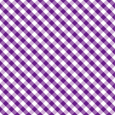 Seamless Cross Weave Gingham Pattern in purple and white,  includes pattern swatch that will seamlessly fill any shape  Ilustração