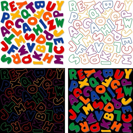 Alphabet Background Design Patterns, Multicolor Stock Vector - 14202185
