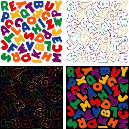Alphabet Background Design Patterns, Multicolor Stock Vector - 14202185