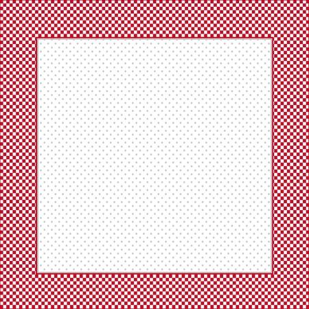 red polka dots: Gingham Verifique que el marco en rojo y blanco, el espacio de la polca punto de fondo copia, de posters, anuncios, libros de recuerdos Vectores
