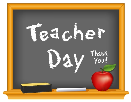 leraar: Leraar Day, Nationale feestdag Stock Illustratie