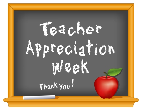 week:  Teacher Appreciation Week, National holiday Illustration