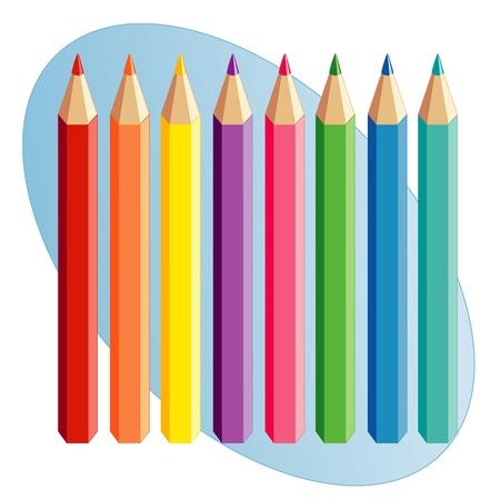 Kleurpotloden, veelkleurig instellen