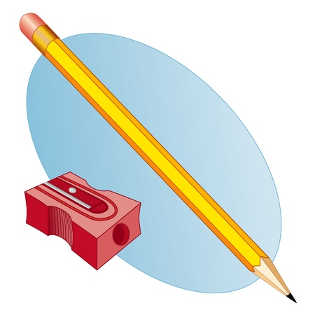 Pencil and Sharpener Stock Vector - 14555875