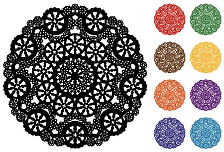 place mat: Lace Doily Snowflake Place Mats, Pastels