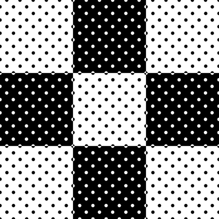 Polka dot Tiles Seamless Background includes pattern swatch  Vector