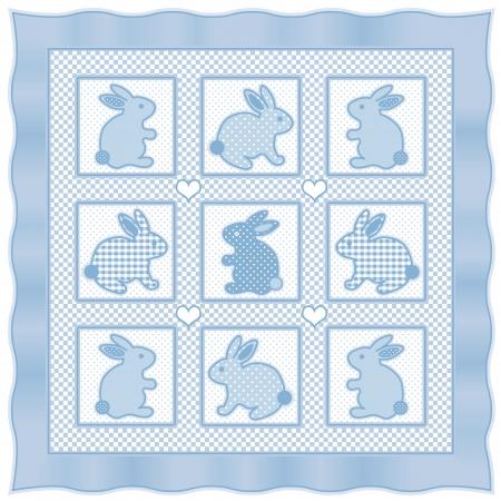 Baby-Schmetterlinge Quilt, Vintage Kindergarten Quilt-Design-Muster ...