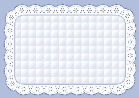 placemat: Tovaglietta con pastello pizzo blu trapuntato ricami occhiello Vettoriali