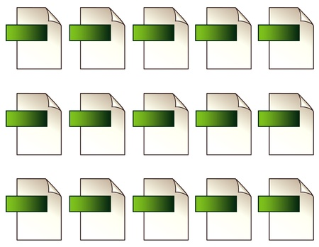 plugin: Blank Digital File Format Icons with copy space on green background