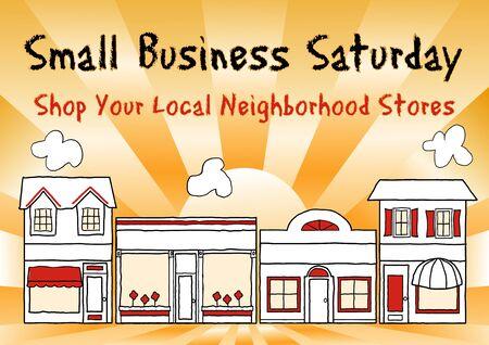 Sábado de los pequeños negocios una fiesta americana celebrada el sábado después de Acción de Gracias para fomentar las compras en los negocios pequeños y locales