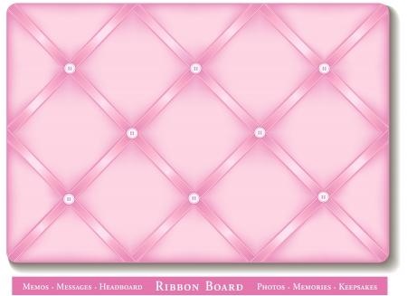interior decorating: Ribbon Bulletin Board, pastello raso nastri rosa a bordo di memoria in stile francese Vettoriali
