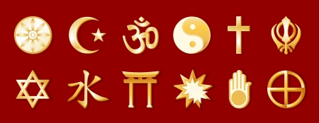 World Religions Illustration