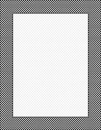 cuadros blanco y negro: Gingham Frame Check, fondo del punto de polca con copia espacio, vertical