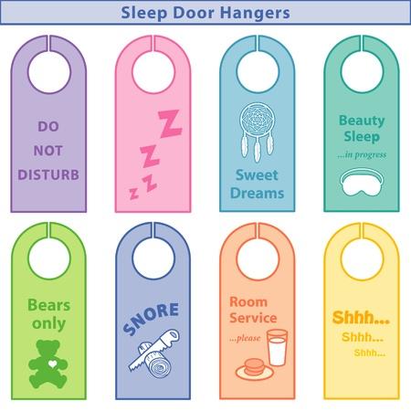 평안한: 수면 문 옷걸이, ZZZs, 달콤한 꿈, 뷰티 슬립, 테디 베어 만, 코 고는 톱질 로그, 룸 서비스, SHHH 파스텔에게 방해 금지