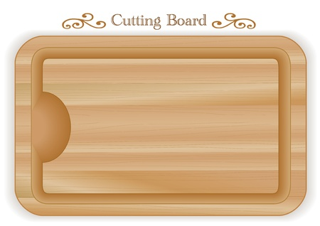 wood grain: Cutting or carving board with well, wood grain detail, rectangular shape; For kitchen, barbecue and bar; Isolated on white