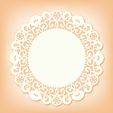 Lace Doily Place Mat, antique vintage design pattern