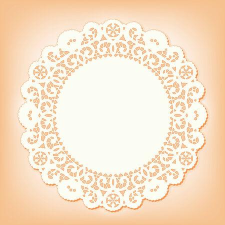 Napperon de dentelle tapis de place, modèle antique de conception de cru Banque d'images - 25856172