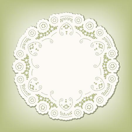 place mat: Lace Doily Place Mat, antique vintage design pattern
