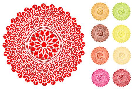 decoracion de pasteles: Encaje de blonda manteles individuales en el patrón de diseño de la antigüedad del vintage de filigrana en 9 colores brillantes para la mesa de decoración de pasteles de fiesta artesanía álbumes de recortes y álbumes