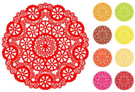 Lace Doily Place Mats  Stock Vector - 25856503