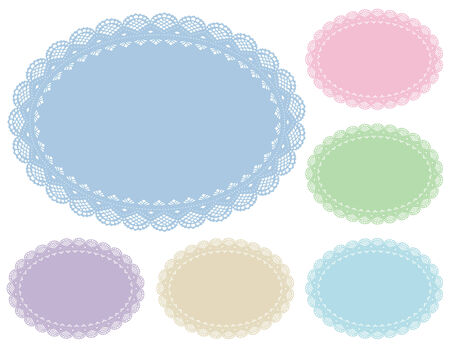 Lace Doily Place Mats   Vector