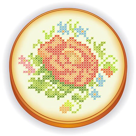 stitchery: Embroidery Rose