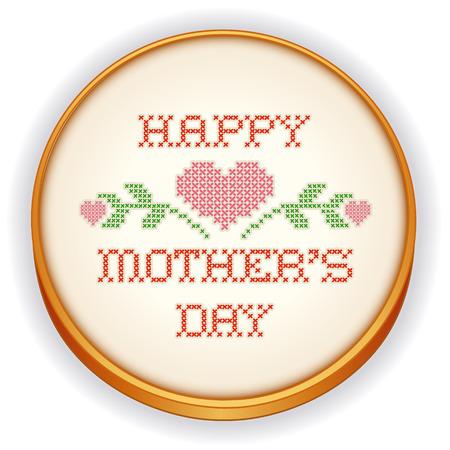 punto cruz: Bordado, Feliz Día de las Madres