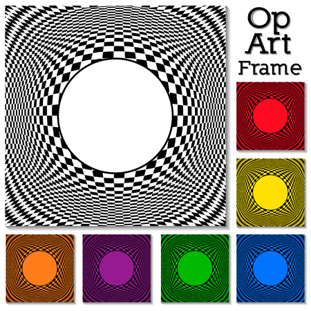 Op Art Design Patterns concept for hypnosis   Vector