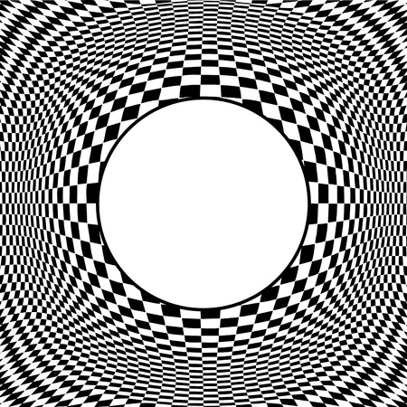 disorient: Op Art Design Pattern concept for hypnosis