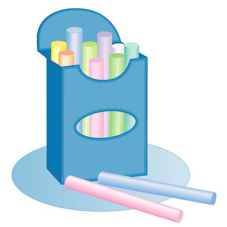 Krijt doos, pastels. Doos van pastel krijt voor school, plakboeken, huis, kantoor, diy en kunstprojecten.