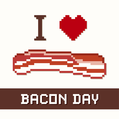 bacon love: Bacon Day, I Love Bacon! Popular tasty holiday celebrated in the United States and around the world. Everything tastes better with bacon!
