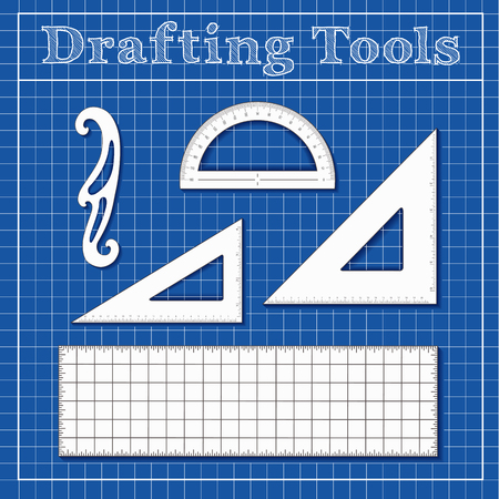 Set of drafting tools.