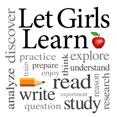 Let Girls Learn Word cloud