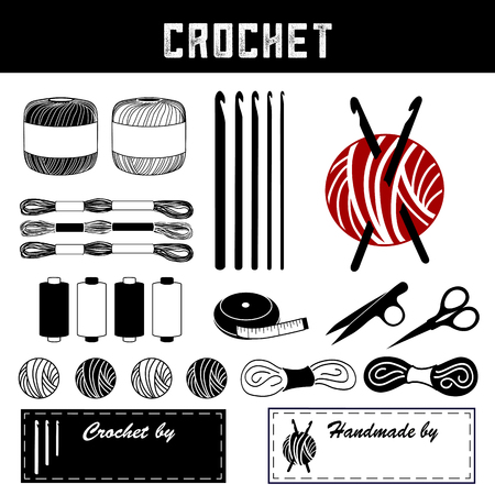 Crochet tools and supplies for DIY crochet, tatting, and making lace