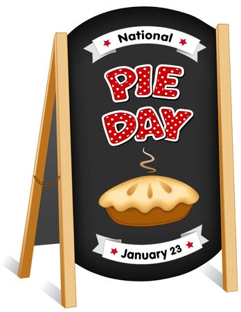 Pie Day, January 23, tasty American national holiday, fresh baked sweet dessert treat