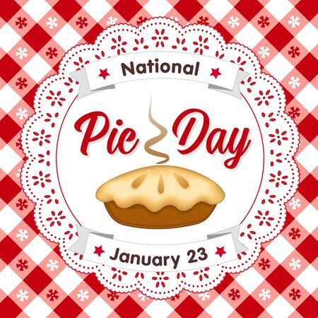 Pie Day, January 23, tasty American national holiday, fresh baked sweet dessert treat Imagens - 128816410