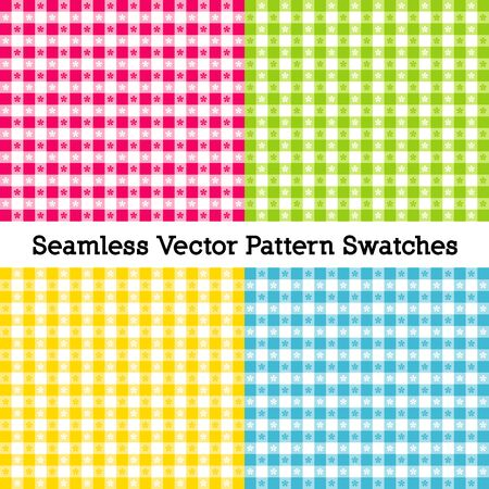 Gingham Seamless Check Patterns includes four pattern  that  fill any shape