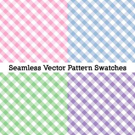 Gingham Cross Weave Seamless Check Patterns Stock Illustratie