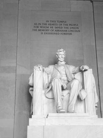 lincoln: The Lincoln Monument Stock Photo