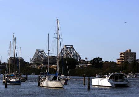 sailer: sailer park and bridge Stock Photo