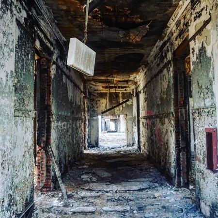Insane Asylum Interior-former psychiatric hospital left to decay Stock Photo