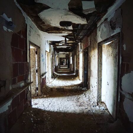 Abandoned building filled with debris from dilapidation and decay over time Reklamní fotografie