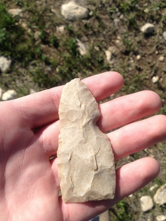 Good looking Indian knife I found in the big horns.