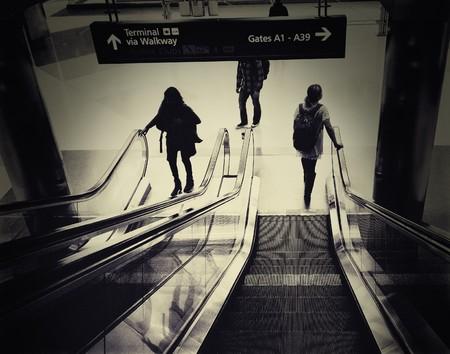 Airport Escalator Editorial