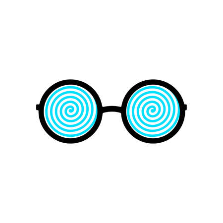 Glamorous eyeglasses with hypnotic spiral patterns instead of glasses. Vector Illustration.