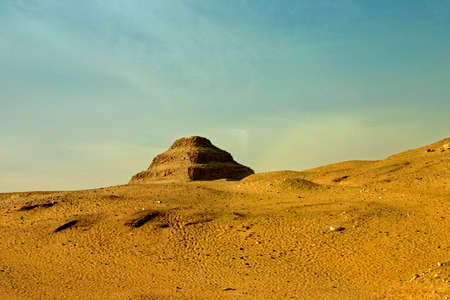 The Famous Step Pyramid of King Zoser of Egypt