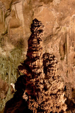 stalagmite: Giant Stalagmite Carlsbad Caverns Stock Photo